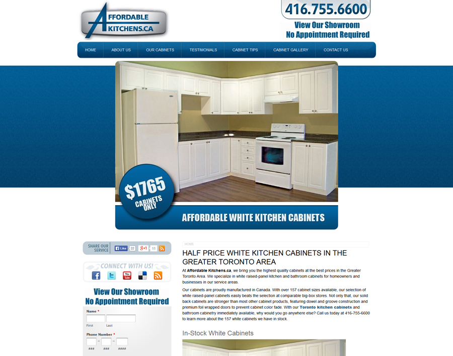 Affordable Kitchens-web design