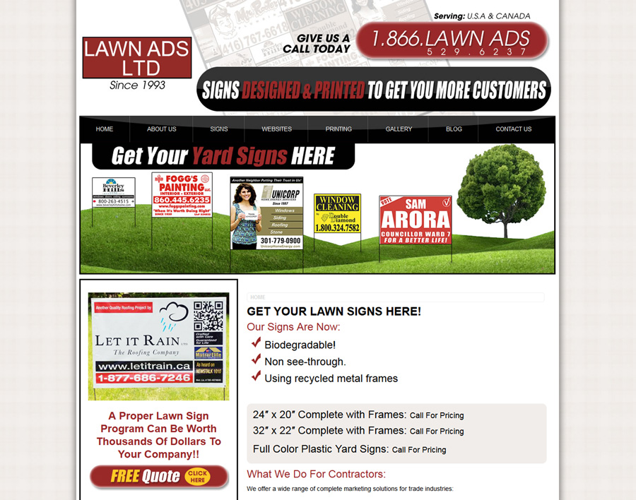 LawnAds-web design