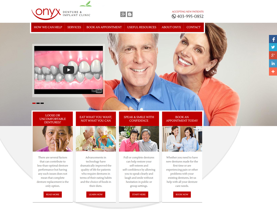 Onyx Denture Clinic-web design
