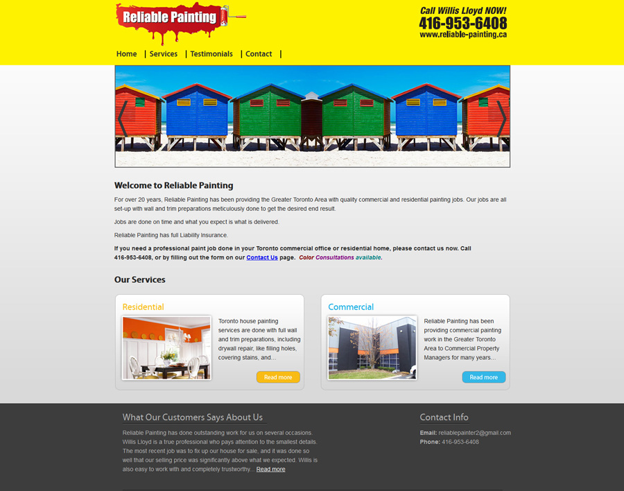 Reliable Painting-web design