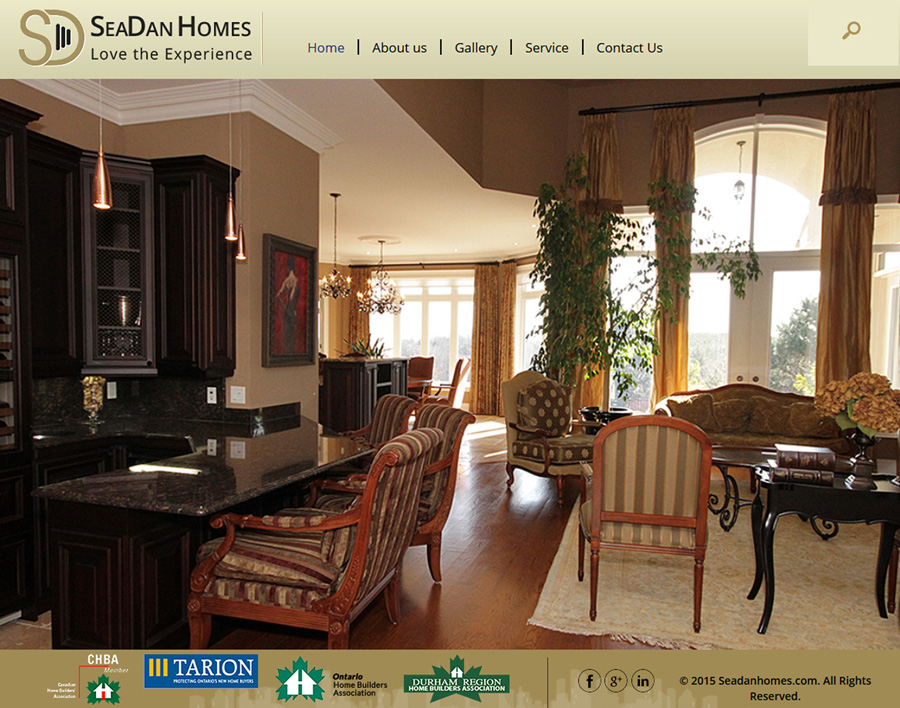 SeaDan Homes-web design