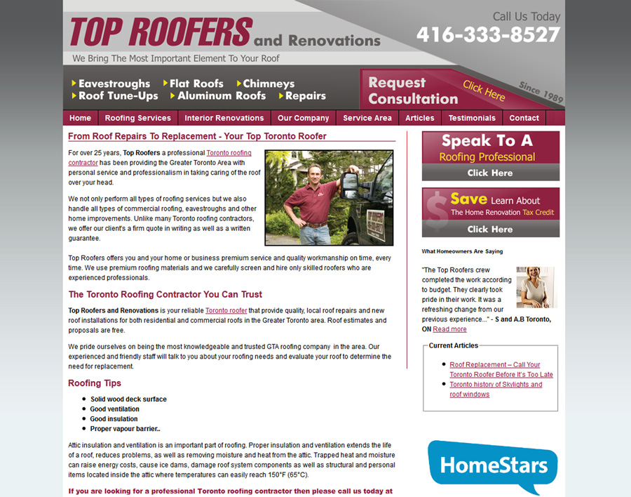 Top Roofers-web design
