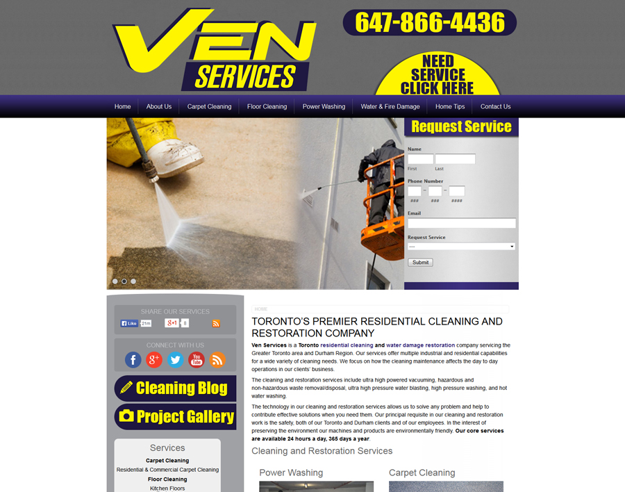 Ven Services-web design