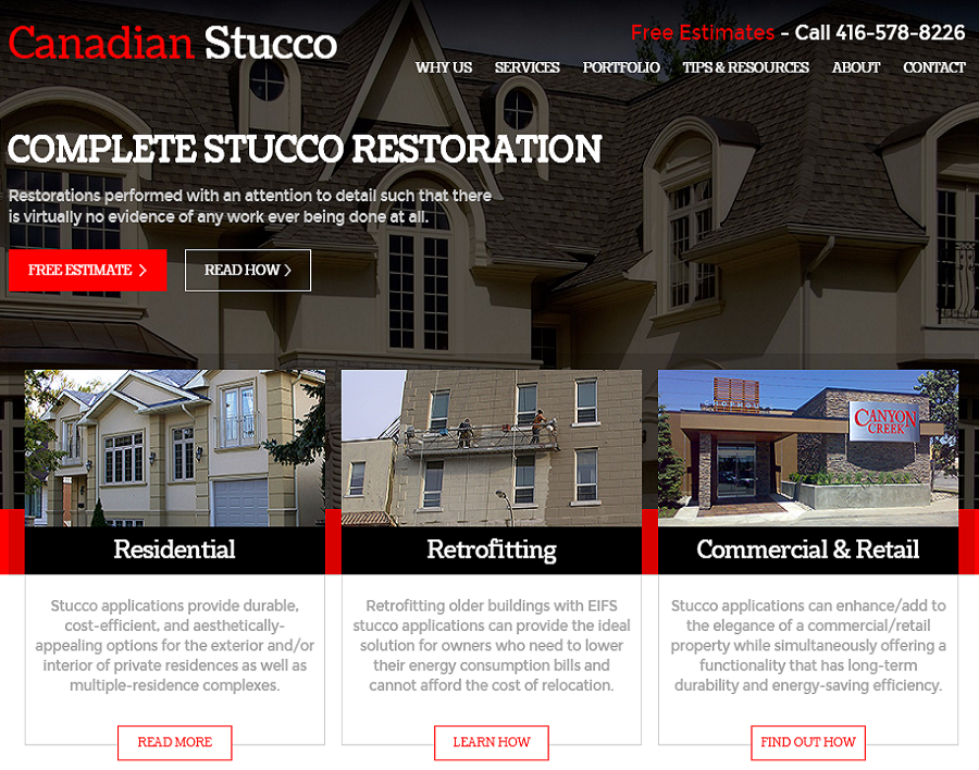 canadianstucco-ca-web design