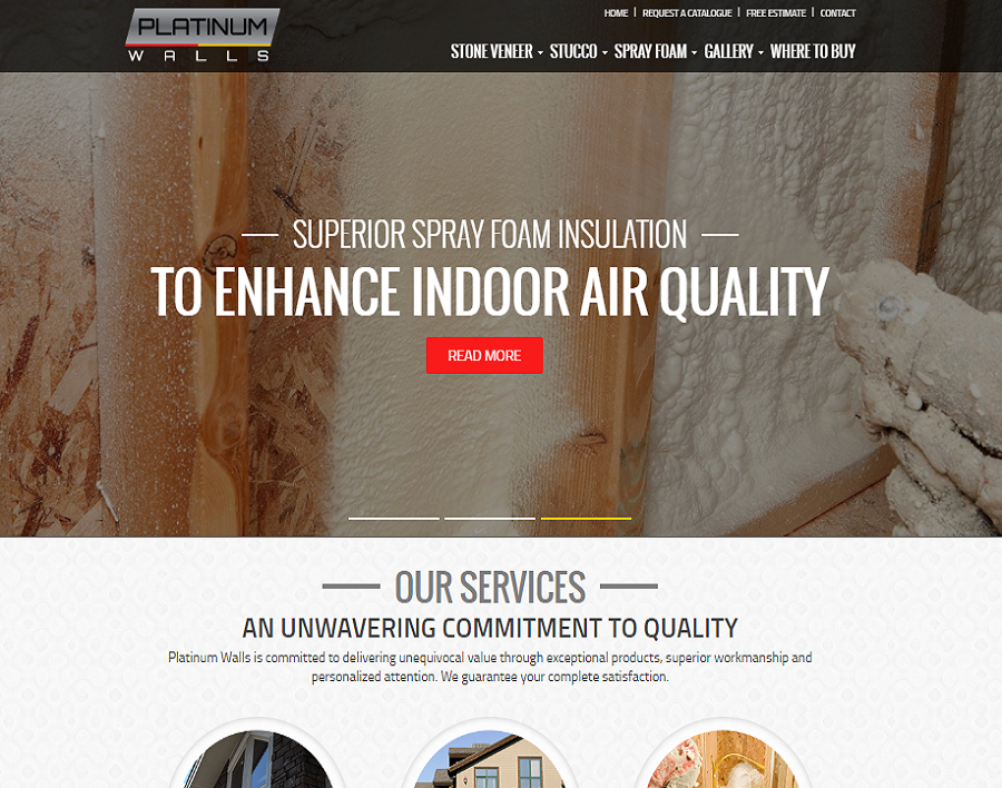 platinumwalls-ca-web design