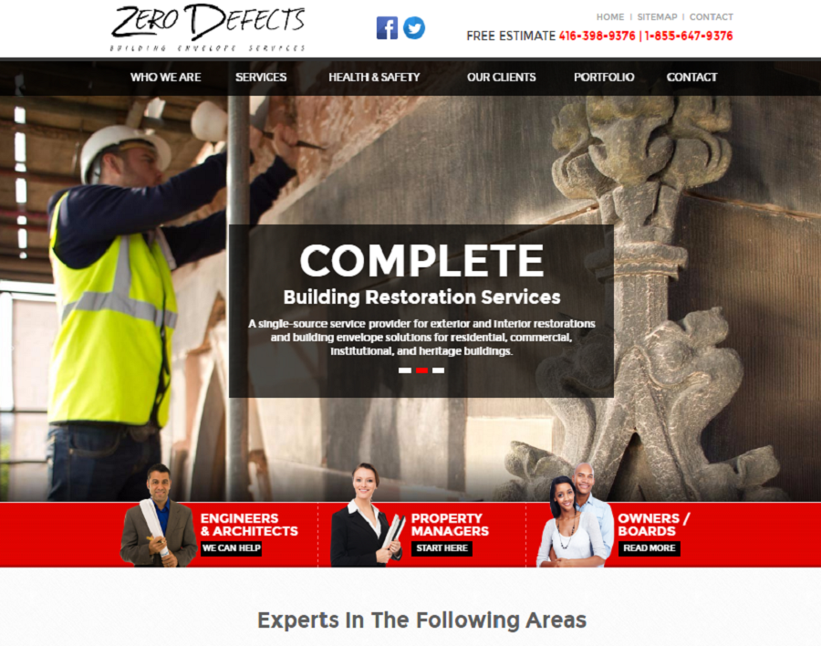 zerodefects-ca-web design