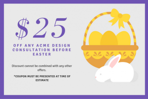 easter coupon - seasonal promotion example