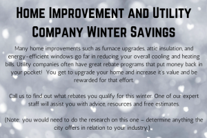 winter savings sample seasonal promotion advertisement