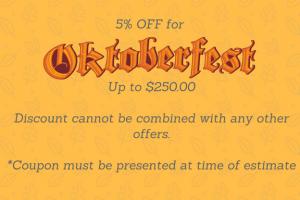 Oktoberfest coupon - seasonal promotion example