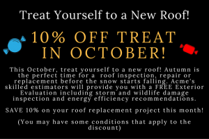October discount - example seasonal promotion coupon