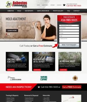 Asbestos Environmental-web design