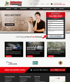 Asbestos Environmental-web design